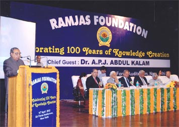 Ramjas Foundation - Centenary Celebrations (2012) : Click to Enlarge